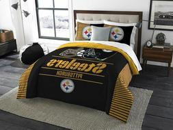 055--> Pittsburgh Steelers - 3 Piece KING Printed Comforter