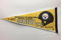 1979 Season Pittsburgh Steelers Super Bowl XIV Pennant