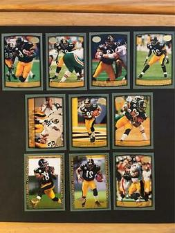 1999 Topps Collection Pittsburgh Steelers Team Set 10 Cards