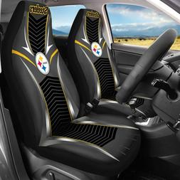 2 Pack for Pittsburgh Steelers Car Seat Covers Universal Fit