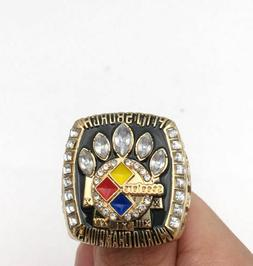 2005 PITTSBURGH STEELERS SUPER BOWL Championship Ring 18k HE