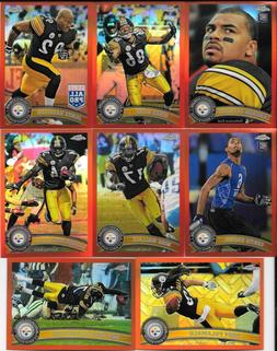 2011 Topps Chrome PITTSBURGH STEELERS Orange Refractor Paral