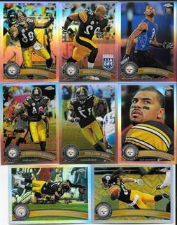 2011 topps chrome pittsburgh steelers refractor parallel