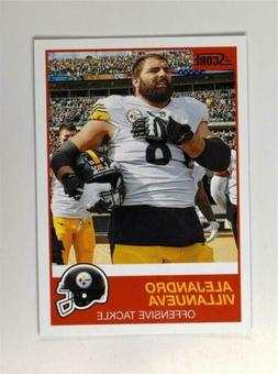 2019 Score Football Base #118 Alejandro Villanueva - Pittsbu