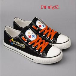 2019 NFL Pittsburgh Steelers Logo Canvas Shoes comfortable S