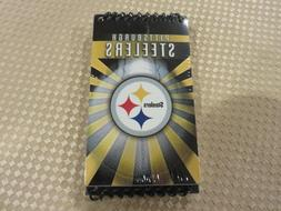 """3 Pack 2008 NFL Pittsburgh Steelers Spiral Top 5"""" X 3"""" Note"""