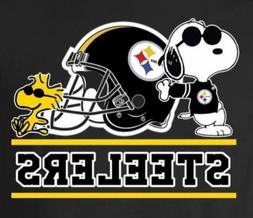 Pittsburgh Steelers Cool Snoopy Vinyl Stickers 3x2.5 Car Wi