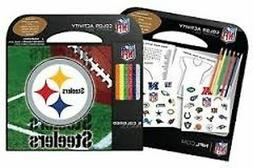 PITTSBURGH STEELERS 6 COLOR PENCILS STICKERS NOTEPAD 24 ACTI