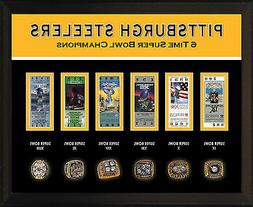 """8x10"""" PHOTO PLAQUE - PITTSBURGH STEELERS 6 Super Bowl Champi"""