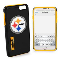 For iPhone 7 Pittsburgh Steelers Dual Hybrid 2 Piece Protect
