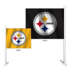 Auto Car Window Flag Double-Sided - NFL Pittsburgh Steelers