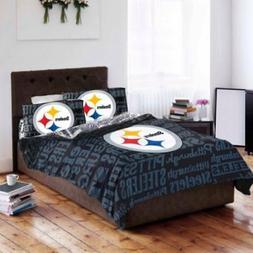 Pittsburgh Steelers Queen Full Comforter Set 5 Pc NFL Bed Co