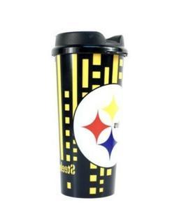 Brand New Pittsburgh Steelers Travel Mug Coffee Cup 16 Ounce