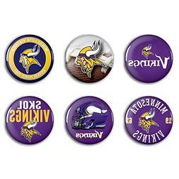 Minnesota Vikings 6-Piece Button Fun Pack