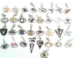 Buy 3, Get 2!  NFL PRO FOOTBALL TEAM Floating Dangle Charms