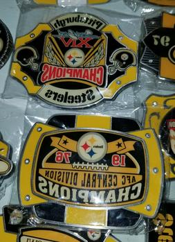CHOICE Pittsburgh Steelers Danbury Mint belt buckles Superbo