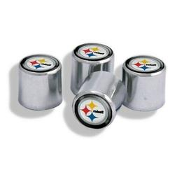 Chrome Plastic Football Pittsburgh Steelers Tire Valve Stem
