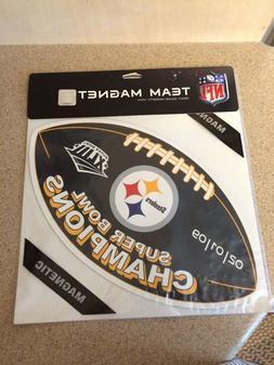 Die-cut Pittsburgh Steelers NFL Car Magnet
