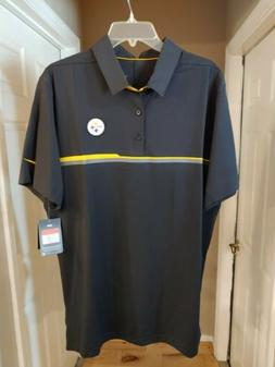 Nike Dri Fit NFL On Field Apparel Polo Pittsburgh Steelers B