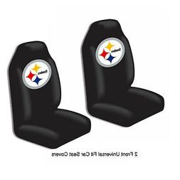 NFL Pittsburgh Steelers Car Truck 2 Front Seat Covers Set -