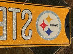 "Glitter Bling Street Sign - Pittsburgh Steelers - ""Steelers"