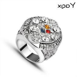 Hot 2008 Pittsburgh Steelers Super Bowl Winner Ring With Dia