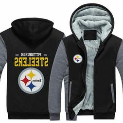 Hot Pittsburgh Steelers Hoodie new Winter Fleece Mens Thicke