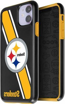 iPhone 11  Pittsburgh STEELERS Dual Hybrid Impact Series Cas