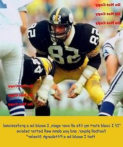 jack lambert quote pittsburgh steelers 8x10 photo