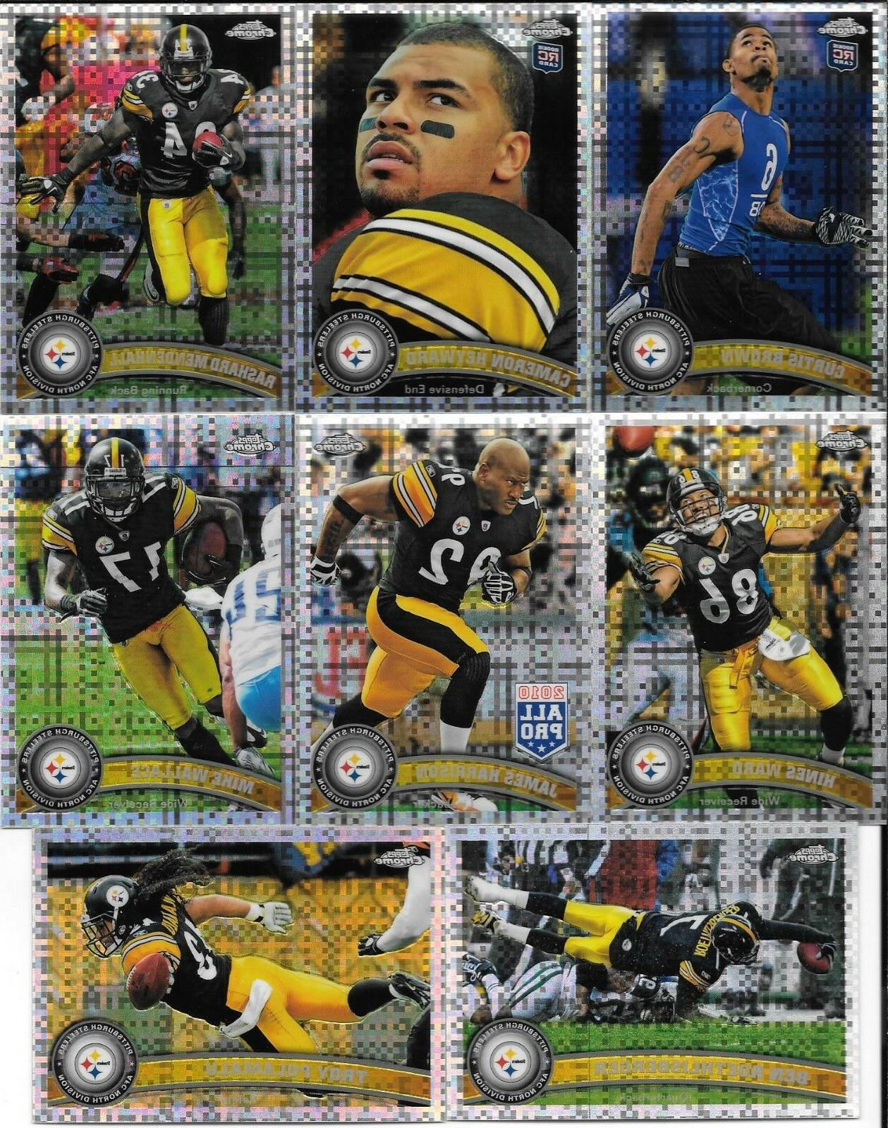 2011 topps chrome pittsburgh steelers xfractor parallel
