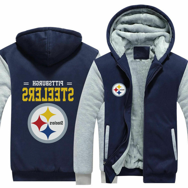 Pittsburgh Steelers zip up Coat Jacket