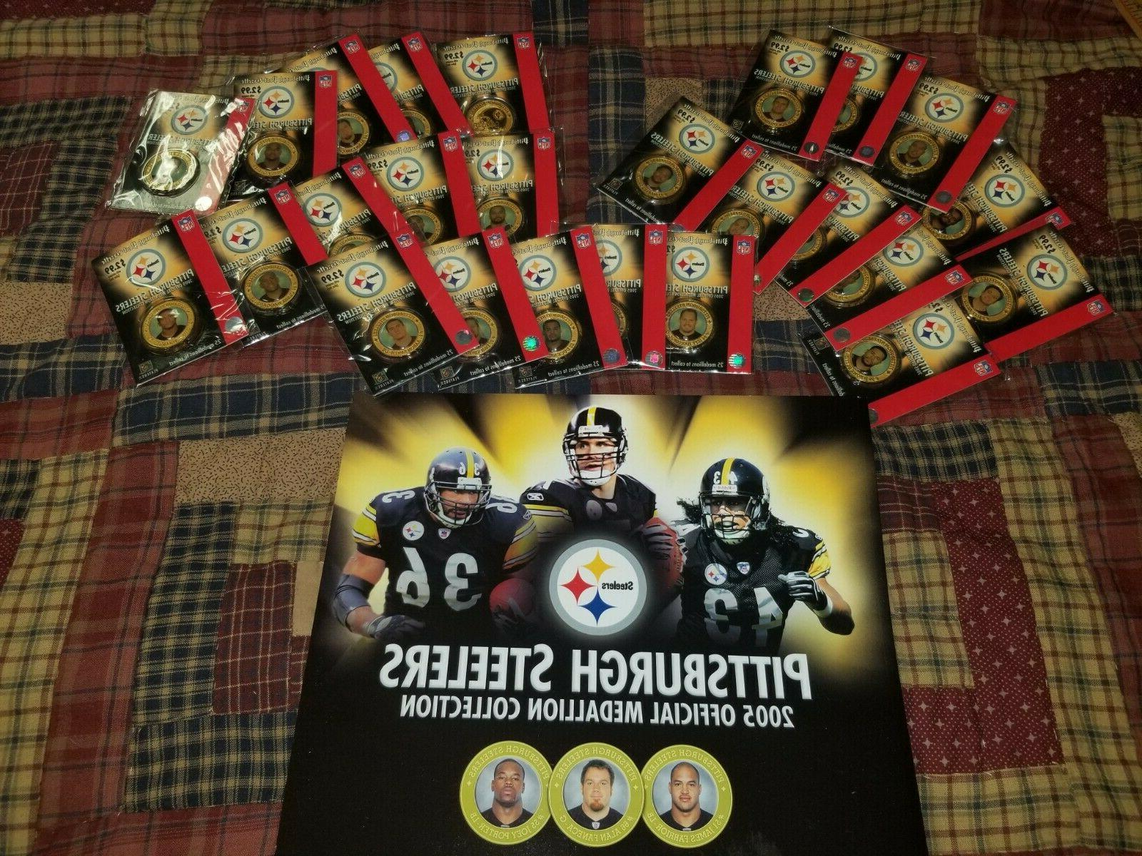 25pc pittsburgh steelers 2005 medallion collection giant