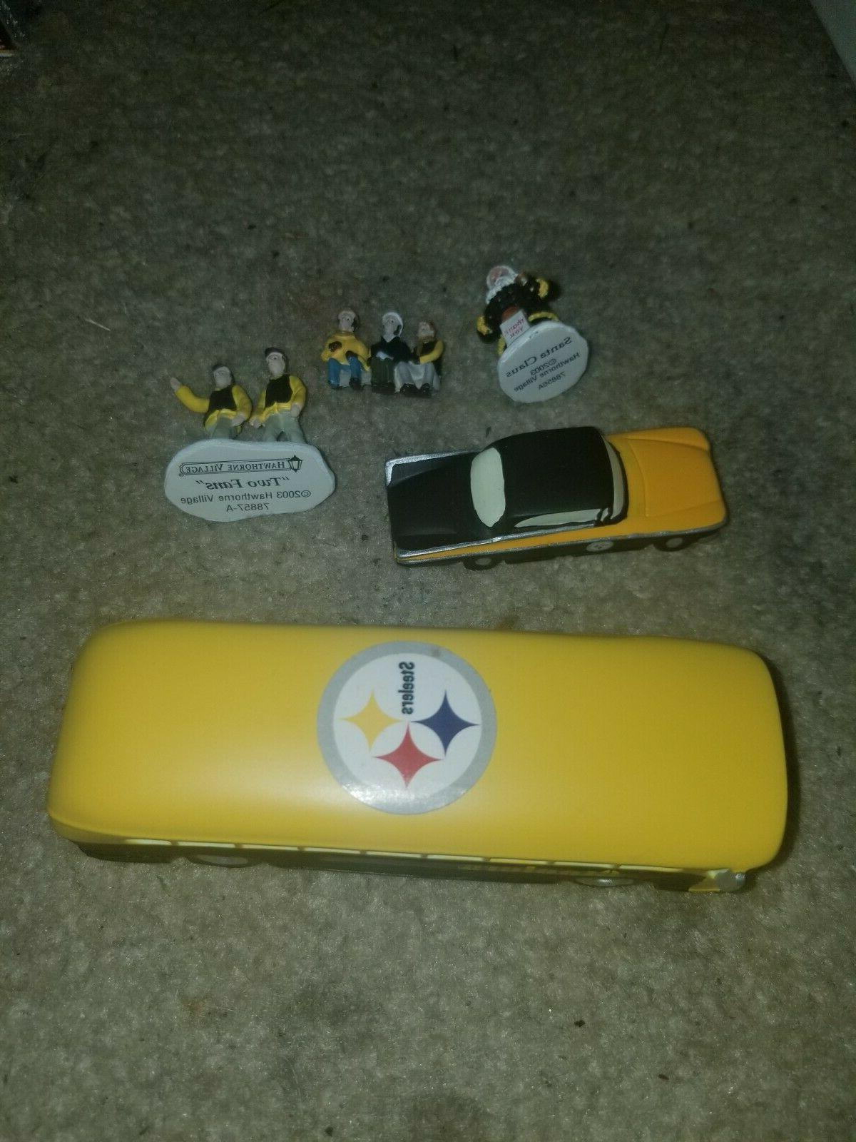 5pc lot pittsburgh steelers accessories bus car