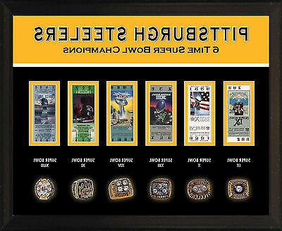 8x10 photo plaque pittsburgh steelers 6 super