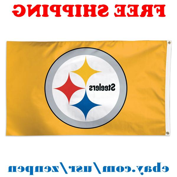deluxe pittsburgh steelers team logo flag banner