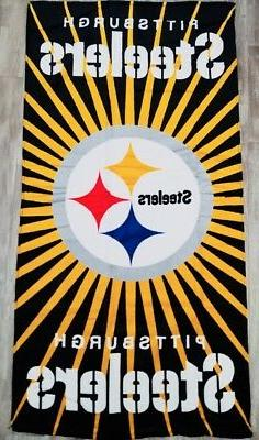 NFL Football Pittsburgh Steelers Licensed Bath and Wash Towe