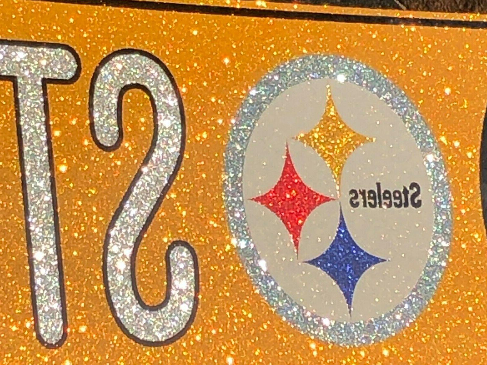 "Glitter Street Sign - Pittsburgh Steelers ""Steelers 16"" x"