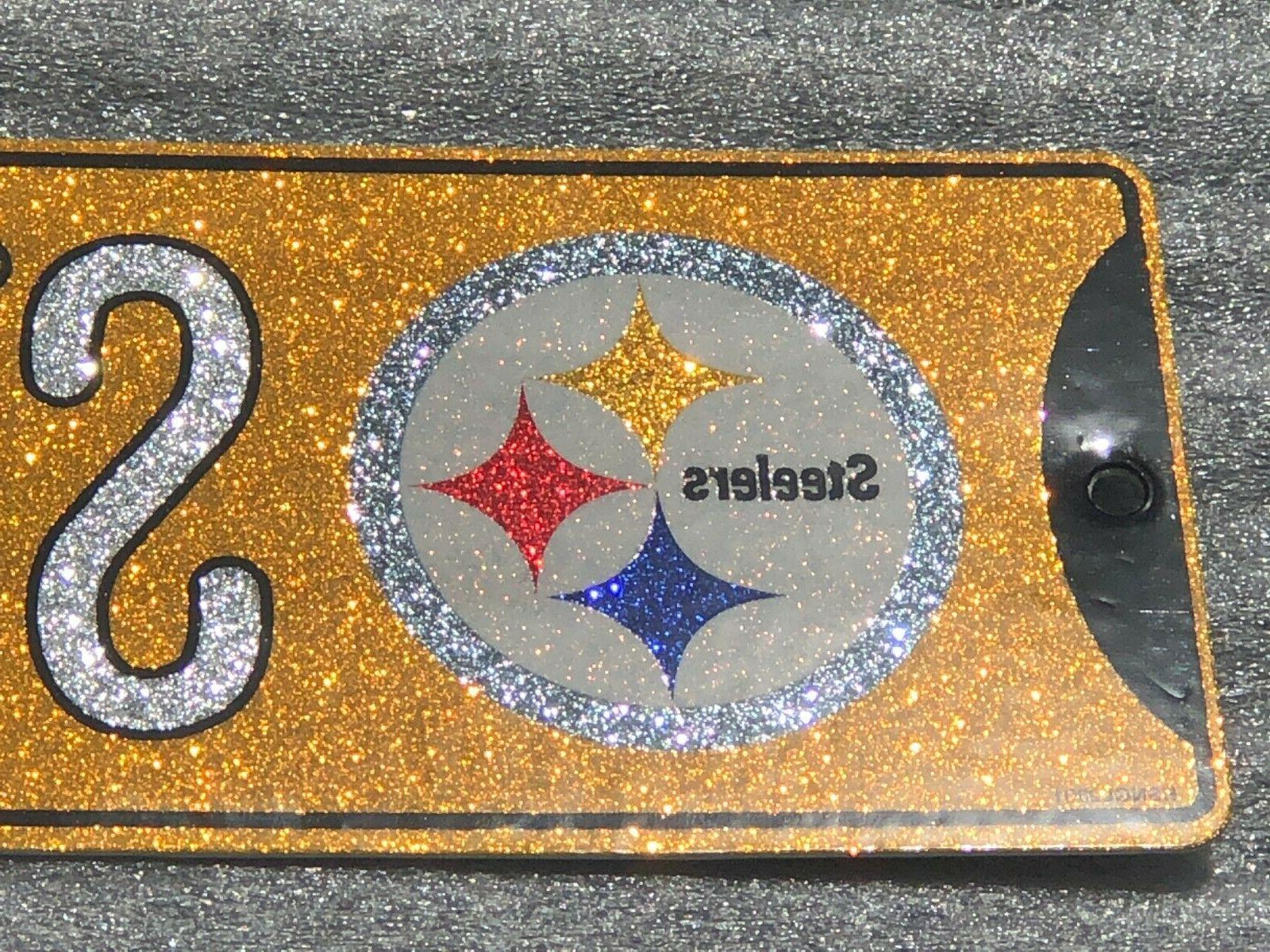"""Glitter - - """"Steelers St."""" - 16"""" x 3.75"""""""