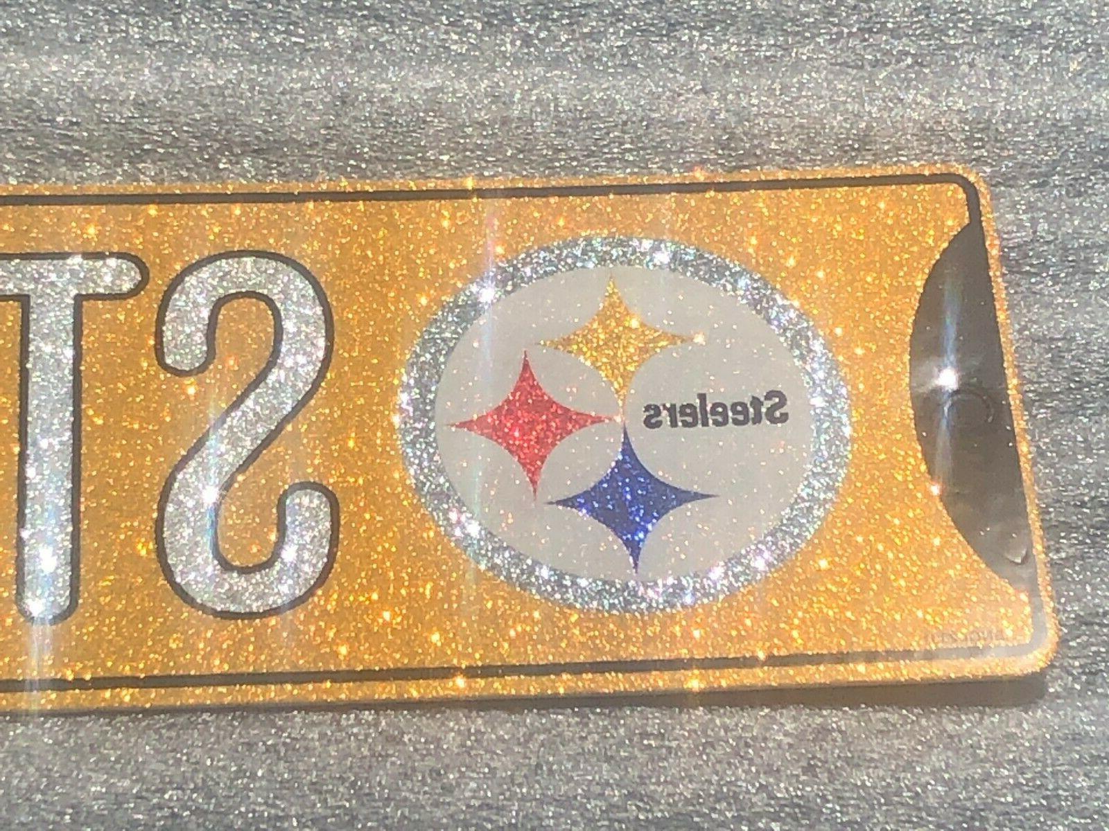 "Glitter Bling - Pittsburgh Steelers ""Steelers - 16"" x 3.75"""