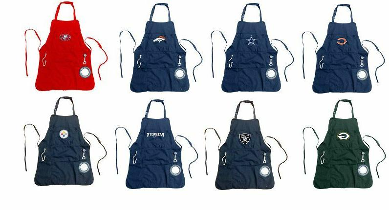 mens grilling utility apron with bottle opener