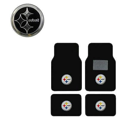 new 5pc nfl pittsburgh steelers car truck