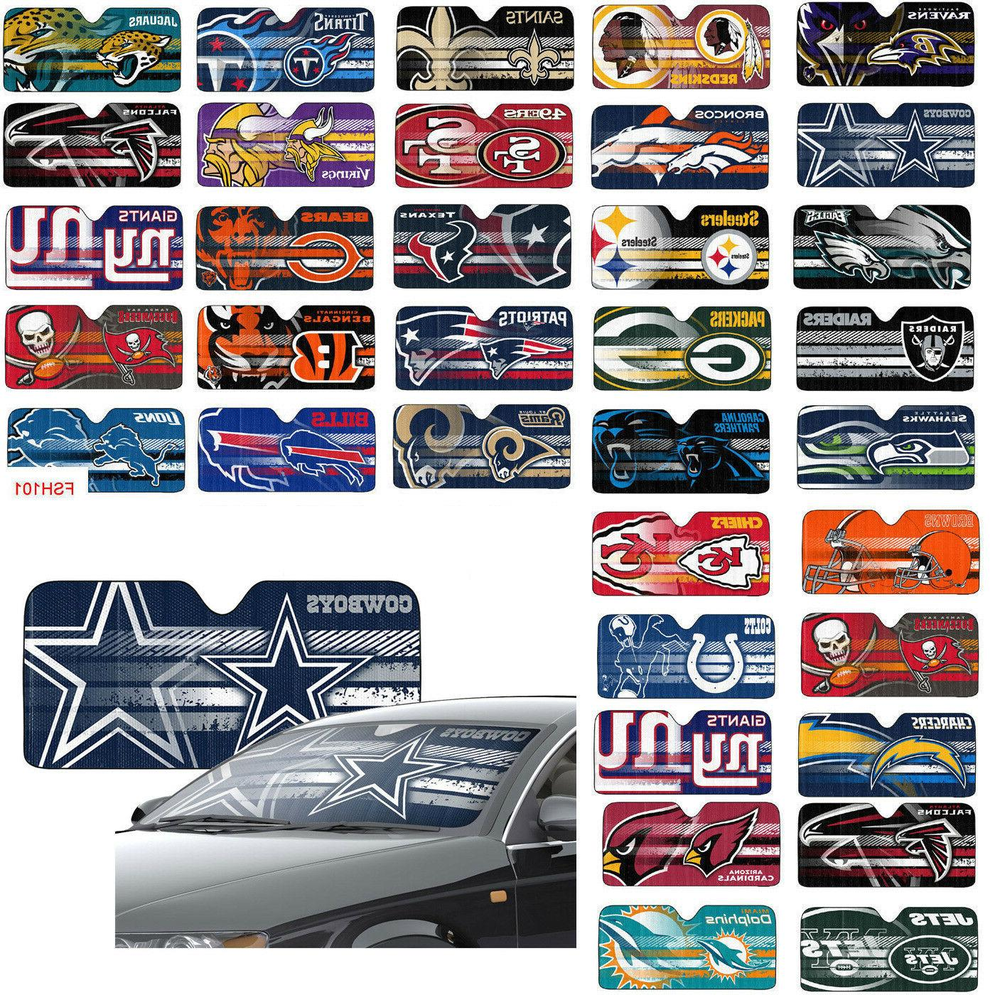 New NFL Car Truck Front Window Sun Large Size