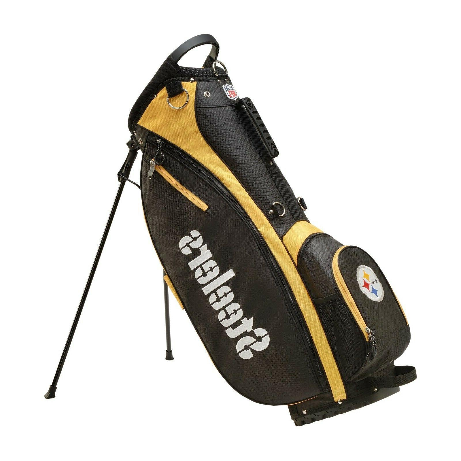 new nfl carry golf bag pittsburgh steelers
