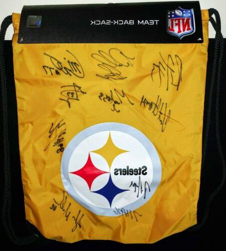 new signed pittsburgh steelers football nfl bag