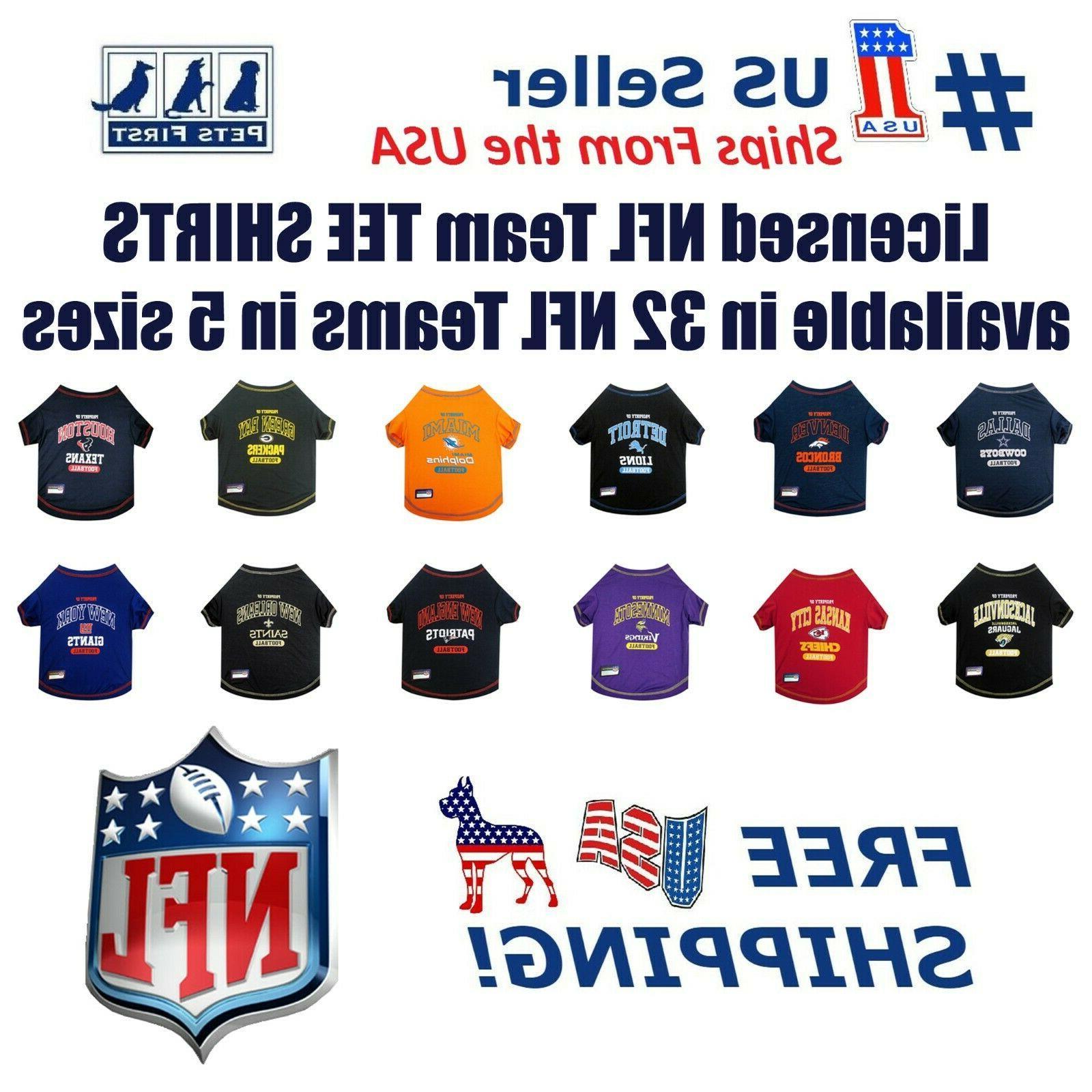 nfl pet t shirt licensed wrinkle free