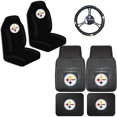 nfl pittsburgh steelers car truck seat covers