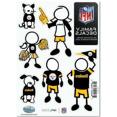 nfl pittsburgh steelers family decal
