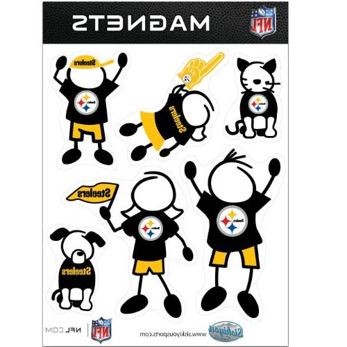 nfl pittsburgh steelers family magnet