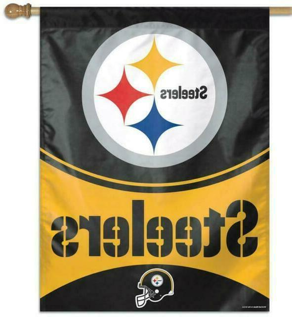 nfl pittsburgh steelers officially licensed vertical banner