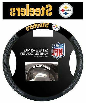 nfl pittsburgh steelers poly suede steering wheel